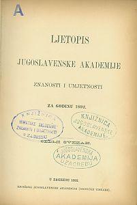 Za godinu 1892. Sv. 7 : Ljetopis
