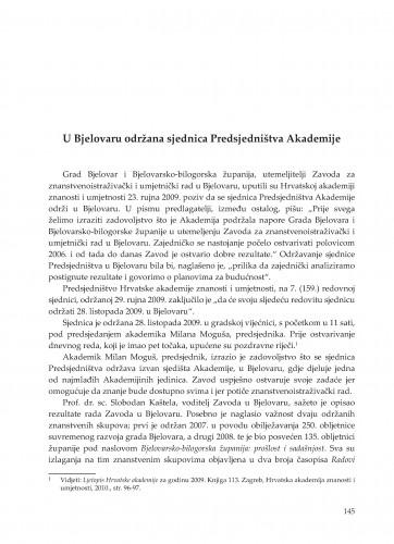 U Bjelovaru održana sjednica Predsjedništva Akademije