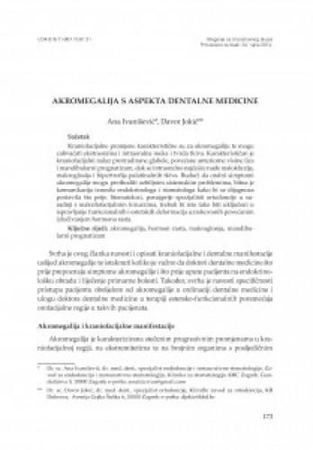 Akromegalija s aspekta dentalne medicine