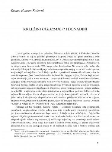 Krležini Glembajevi i Donadini : Krležini dani u Osijeku