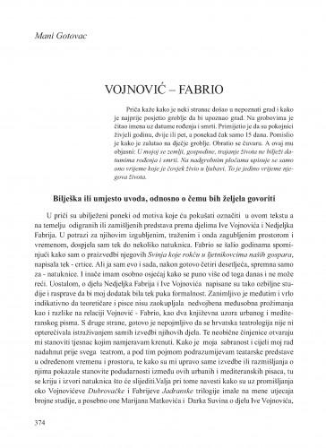 Vojnović - Fabrio : Krležini dani u Osijeku