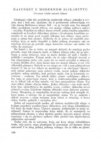 Naivnost u modernom slikarstvu : Bulletin Instituta za likovne umjetnosti Jugoslavenske akademije znanosti i umjetnosti