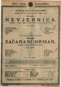 Nevjernica Komedija u tri čina / Napisao Roberto Bracco