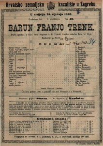Barun Franjo Trenk pučki igrokaz u četiri čina / napisao J. E. Tomić