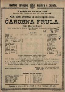 Čarobna frula opera u dva čina / od Mozarta
