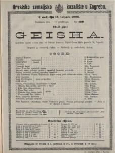 Geisha komična opera u dva čina / od Sidney Jones-a