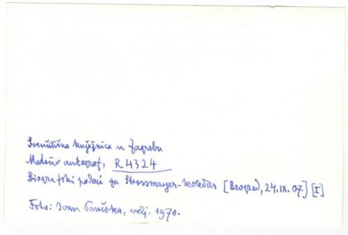 Korespondencija upućena uredništvu Strossmayer koledara