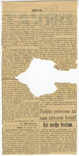 Starovičnjačtvo Mile Starčevića.