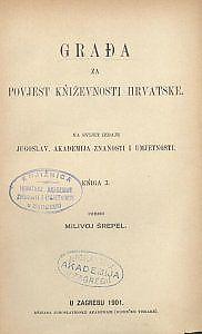 Građa za povijest književnosti hrvatske