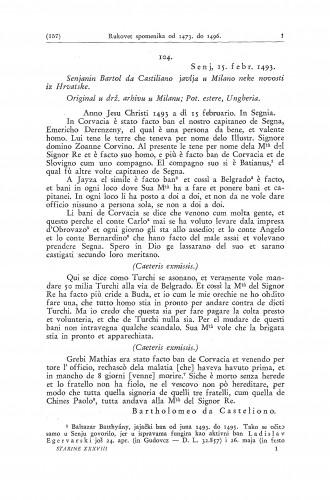 Rukovet spomenika o hercegu Ivanišu Korvinu i o borbama Hrvata s Turcima (1473-1496) / Ferdo Šišić