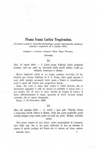 Pisma Ivana Lučića Trogiranina / Bare Poparić