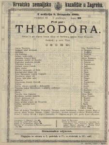 Theodora drama u pet činova (osam slika) / od Sardou-a