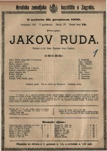 Jakov Ruda drama u tri čina / napisao Ivan Cankar