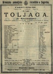 Toljaga : pariski pučki igrokaz u 5 činova (9 slika) / po Zolinu romanu napisali W. Busnach i O. Gastineau