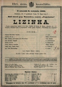Lizinka Vesela romantična opera u tri čina / Glazba od Ovana pl. Zajca