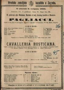 Pagliacci opera u dva čina s prologom / spjevao i uglazbio Leoncavallo