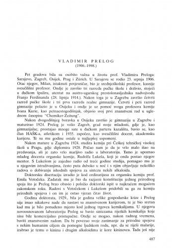 Vladimir Prelog (1906.-1998.) / Rativoj Seiwerth