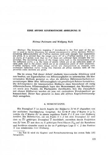 Eine affine kinematische, Abbildung II