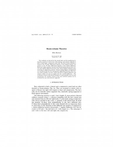 Beam-column theories