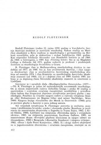 Rudolf Flotzinger : [biografije novih članova Akademije]