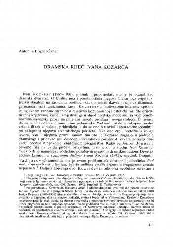 Dramska riječ Ivana Kozarca