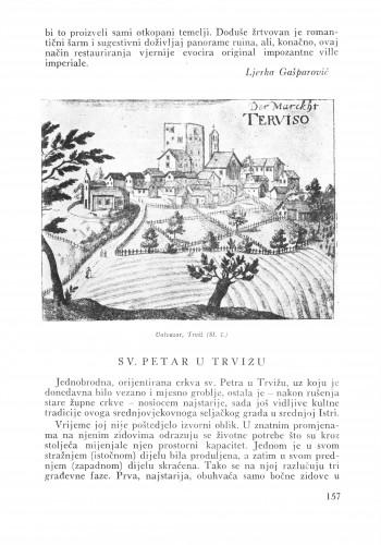 Sv. Petar u Trvižu : Bulletin Zavoda za likovne umjetnosti Jugoslavenske akademije znanosti i umjetnosti