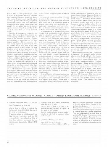 Nabavke (Galerija Jugoslavenske akademije) : Bulletin Instituta za likovne umjetnosti Jugoslavenske akademije znanosti i umjetnosti