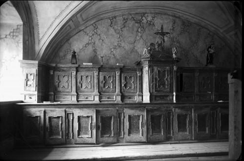 Crkva Svetog Ivana Krstitelja (Kloštar Ivanić) : ormar u sakristiji [Griesbach, Đuro  ]