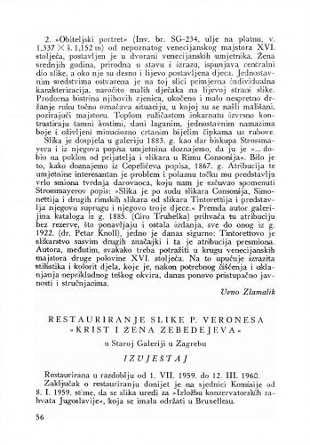 Restauriranje slike P. Verones