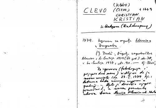 Clevo (Klebo) Christian Kristian