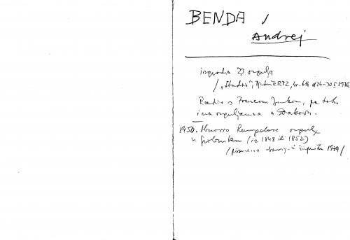 Benda Andrej