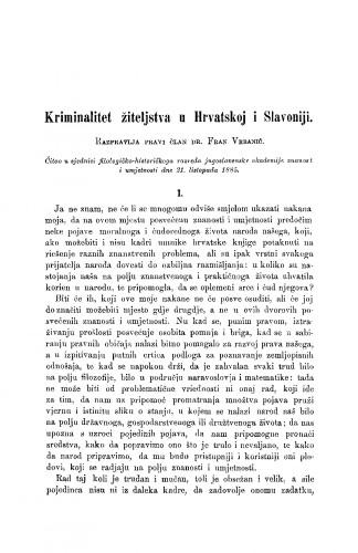 Kriminalitet žiteljstva u Hrvatskoj i Slavoniji