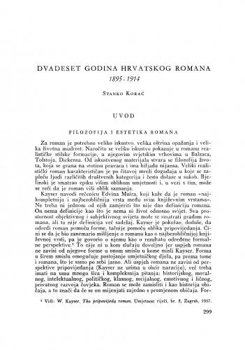 Dvadeset godina hrvatskoga romana