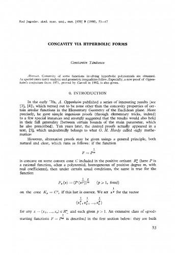 Concavity via hyperbolic forms
