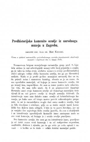 Predhistorijsko kamenito orudje iz narodnoga muzeja u Zagrebu