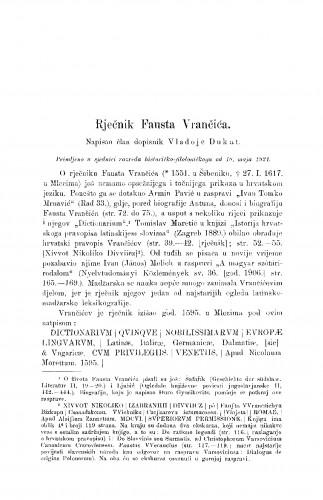 Rječnik Fausta Vrančića
