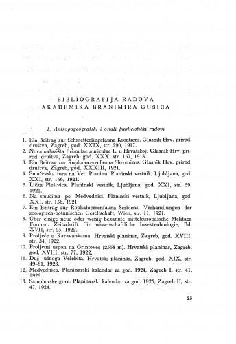 Bibliografija radova akademika Branimira Gušića