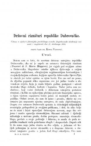 Državni rizničari republike Dubrovačke. [Primjetbe]