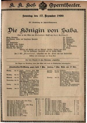 Die königin von Saba Oper in vier Akten