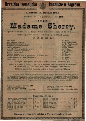 Madame Sherry opereta u tri čina / od H. Felixa
