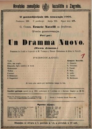Un Dramma Nuovo dramma in 3 atti e 4 quadri / di M. Tamayo y Bauss