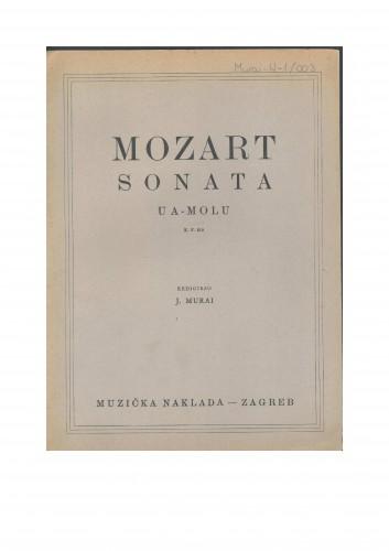 Sonata u a-molu : K. V. 310 : Ostavština Jurica Murai