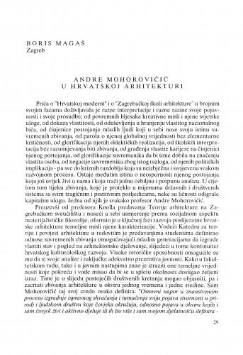 Andre Mohorovičić u hrvatskoj arhitekturi : Radovi Zavoda za znanstveni rad Varaždin
