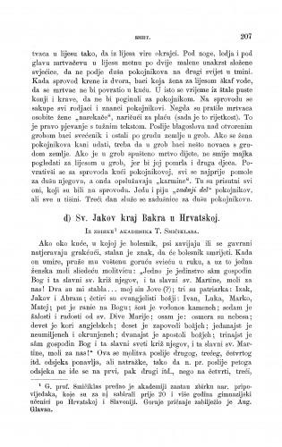 Sv. Jakov kraj Bakra u Hrvatskoj : smrt : Zbornik za narodni život i običaje