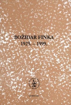 Božidar Finka : 1925.-1999. : Spomenica preminulim akademicima