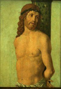 Krist vezan uza stup i okrunjen