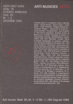 God. 25(1994), br. 1-2 : Arti musices