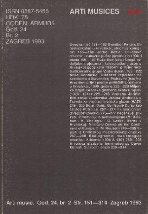God. 24(1993), br. 2 : Arti musices