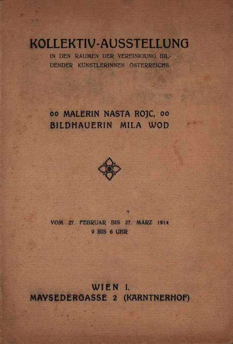 Malerin Nasta Rojc, Bildhauerin Mila Wod