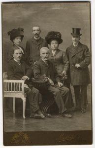 Obitelj Matoševih: Leon Matoš, August Matoš, Danica Matoš, Antun Gustav Matoš, Marija Matoš i Milan Matoš